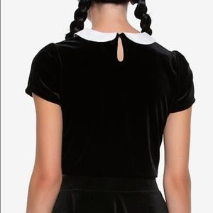 Hot Topic Tops - Wednesday Addams Crop Top & Witch Hat Pin
